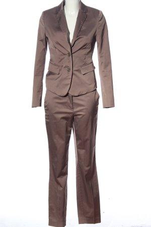 Comma Twin set in jersey marrone stile professionale