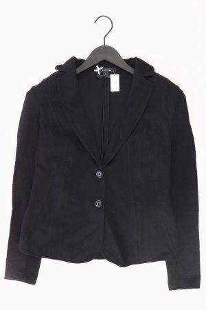 comma, Jerseyblazer Größe 40 schwarz aus Baumwolle