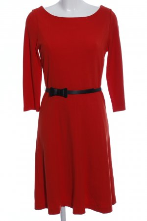 Comma Jerseykleid rot-schwarz Casual-Look