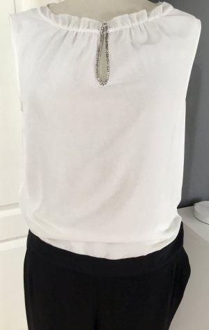 Comma Langer Jumpsuit black-natural white
