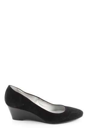 Comma Keil-Pumps schwarz Business-Look