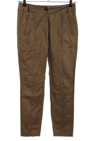 Comma Pantalon kaki brun style décontracté