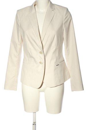 Comma Klassischer Blazer blanc cassé style d'affaires