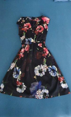Comma Letnia sukienka malina-ciemnoniebieski