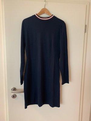 Comma Sweaterjurk donkerblauw Katoen