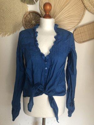 Comma Long Sleeve Blouse blue