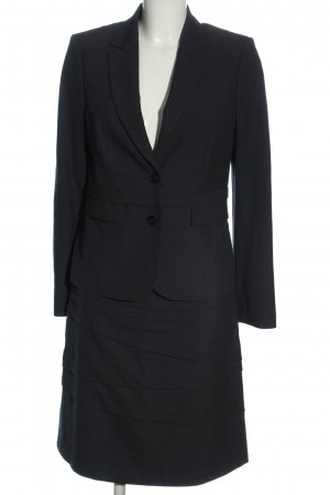 Comma Ladies' Suit blue-black striped pattern casual look