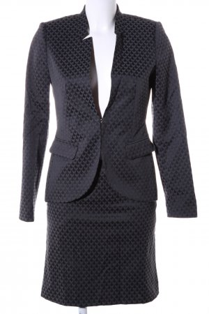 Comma Ladies' Suit black-light grey graphic pattern business style