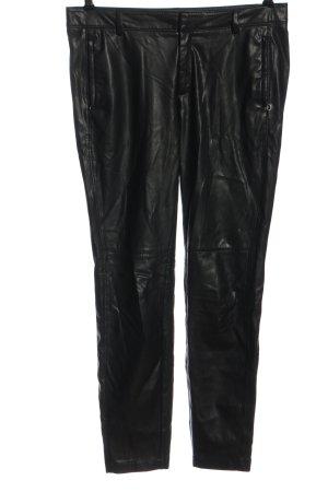 Comma Kunstlederhose schwarz Elegant