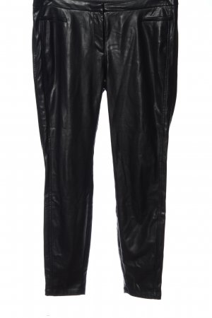 Comma Faux Leather Trousers black casual look
