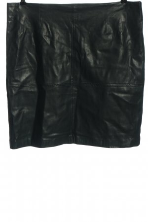 Comma Faux Leather Skirt black casual look