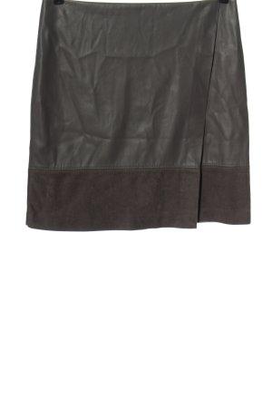 Comma Kunstlederrock khaki Elegant