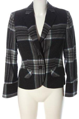 Comma Short Blazer check pattern business style