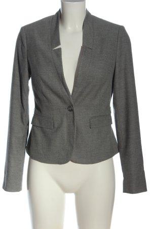 Comma Blazer corto gris claro moteado estilo «business»
