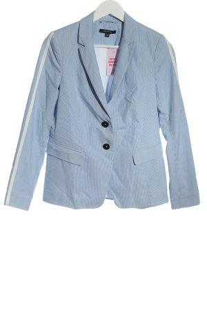Comma Kurz-Blazer blau Allover-Druck Business-Look