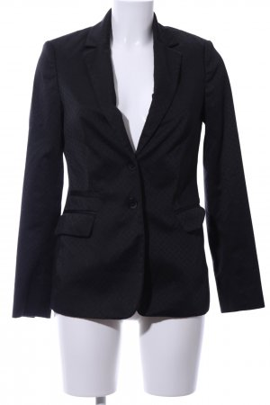 Comma Kurz-Blazer schwarz Karomuster Business-Look