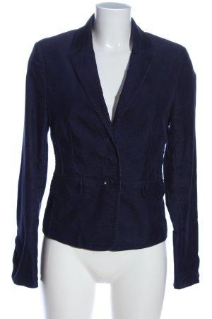 Comma Kurz-Blazer blau Casual-Look