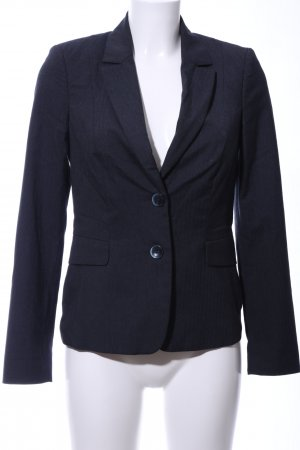 Comma Kurz-Blazer blau Business-Look