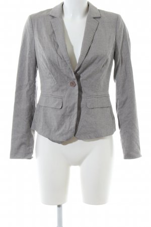 Comma Kurz-Blazer hellgrau Allover-Druck Business-Look