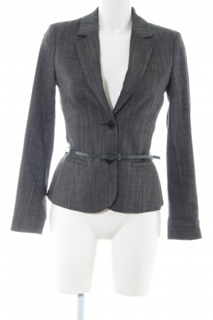 Comma Kurz-Blazer hellgrau meliert Business-Look