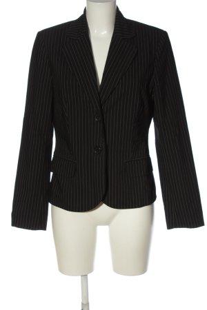Comma Kurz-Blazer schwarz-weiß Streifenmuster Business-Look