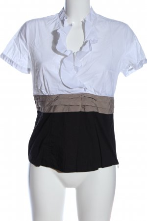 Comma Kurzarm-Bluse mehrfarbig Business-Look