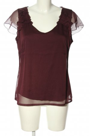 Comma Kurzarm-Bluse rot Casual-Look