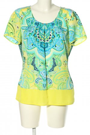 Comma Kurzarm-Bluse Mustermix Casual-Look