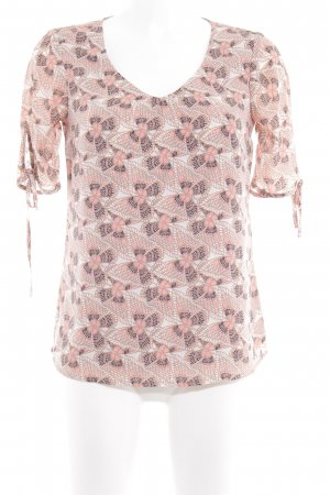 Comma Kurzarm-Bluse abstraktes Muster Casual-Look