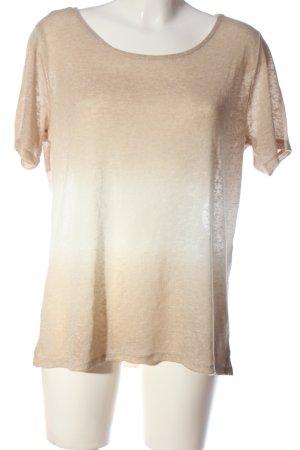 Comma Kurzarm-Bluse creme-wollweiß Farbverlauf Casual-Look