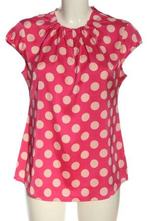 Comma Blusa de manga corta rosa-crema elegante