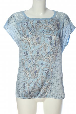 Comma Short Sleeved Blouse allover print casual look