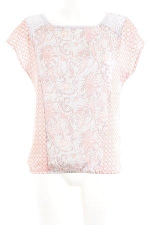 Comma Kurzarm-Bluse mehrfarbig Elegant