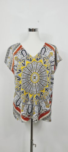 Comma Short Sleeved Blouse multicolored