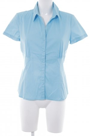 Comma Kurzarm-Bluse neonblau Casual-Look