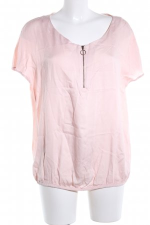 Comma Kurzarm-Bluse pink Business-Look