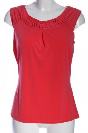Comma Kurzarm-Bluse rot Business-Look
