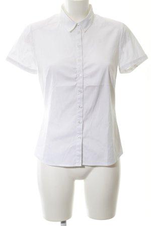 Comma Kurzarm-Bluse weiß
