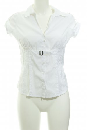 Comma Kurzarm-Bluse weiß Elegant