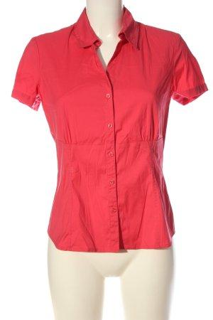Comma Camisa de manga corta rosa elegante