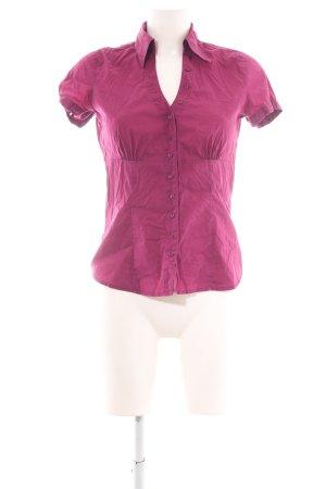 Comma Shirt met korte mouwen roze casual uitstraling
