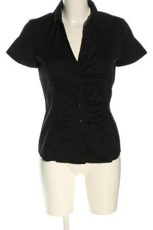Comma Camisa de manga corta negro look casual