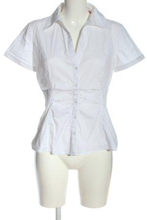 Comma Chemise à manches courtes blanc style décontracté