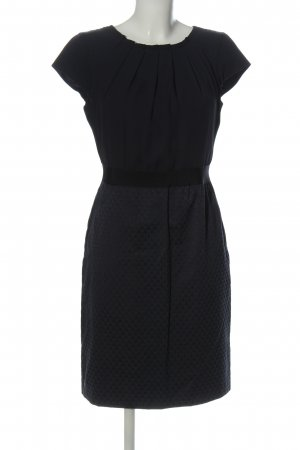 Comma Kurzarmkleid schwarz Motivdruck Business-Look