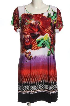 Comma Sukienka z krótkim rękawem Abstrakcyjny wzór W stylu casual