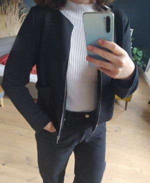 Comma Blazer sweat noir-argenté