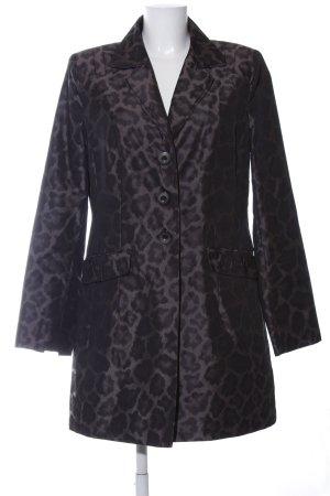 Comma Short Coat black leopard pattern elegant
