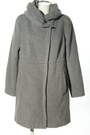 Comma Short Coat light grey flecked casual look