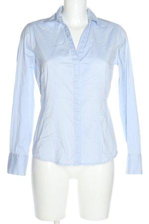 Comma Langarm-Bluse blau Business-Look