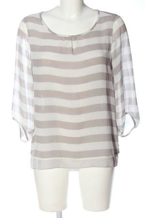 Comma Camicetta a maniche lunghe bianco-grigio chiaro stampa integrale